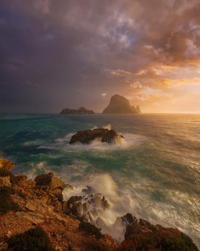 Ibiza Visions the storm is comming at sunset